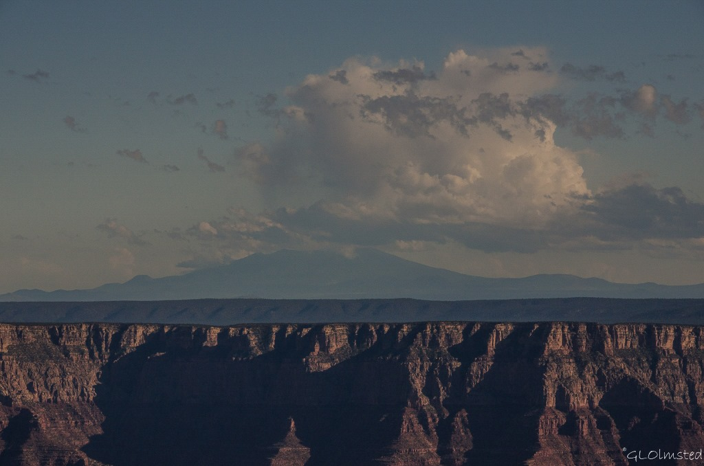 Cloud over Mt Humphreys from Cape Royal North Rim Grand Canyon National Park Arizona