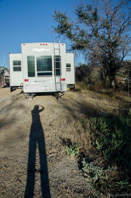 Gaelyn's shadow & RV Yarnell Arizona
