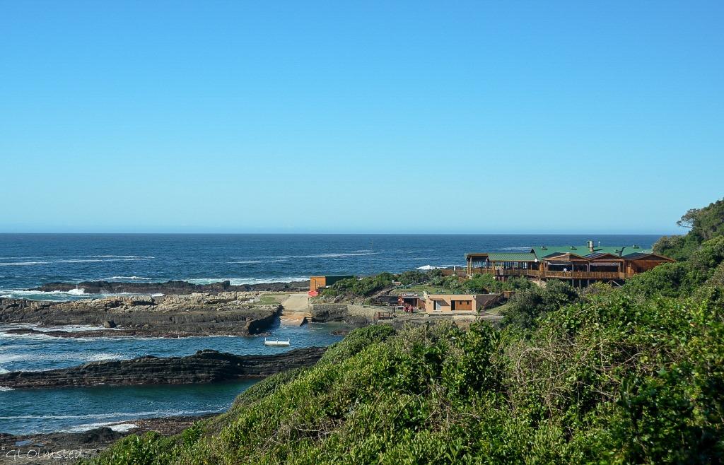 Restuarant and swim area from Suspension Bridge trail Tsitsikamma National Park South Africa