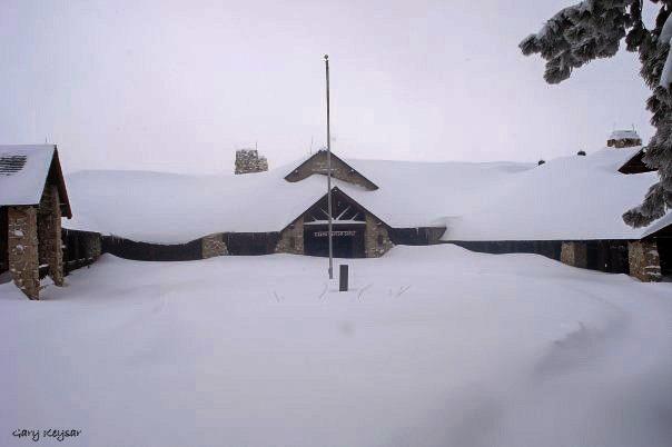 Snow buried Grand Lodge by Gary Keysar North Rim Grand Canyon National Park Arizona