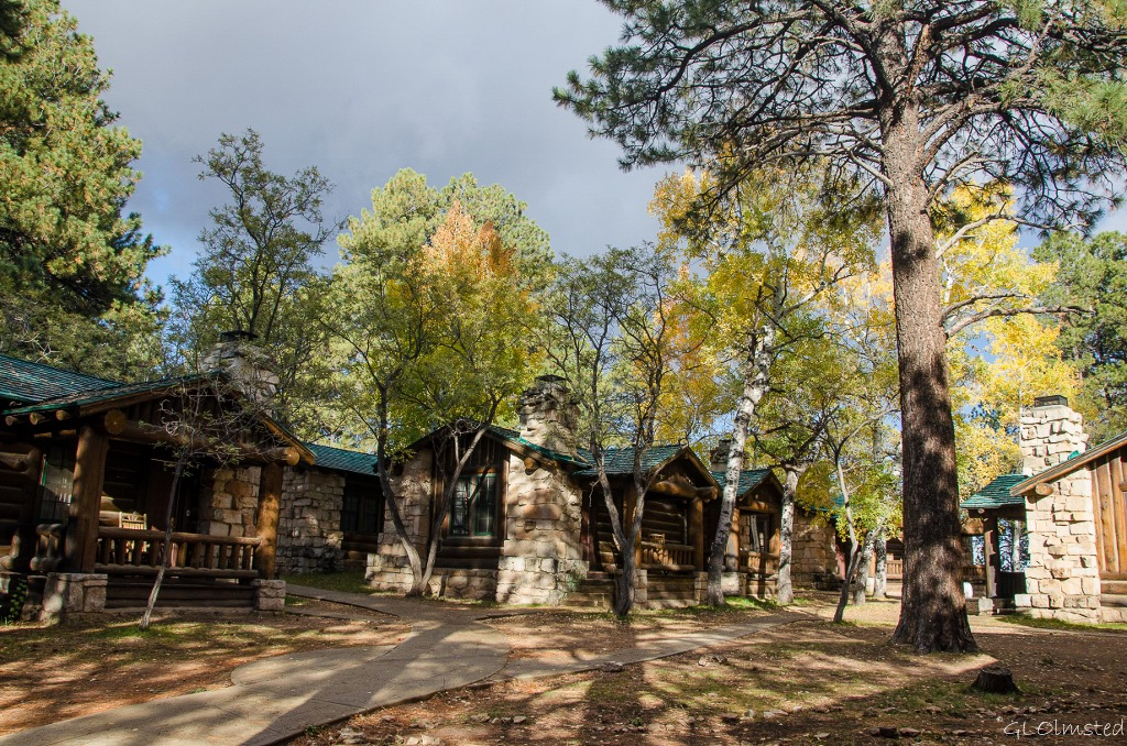 Cabins and fall colors North Rim Grand Canyon National Park Arizona