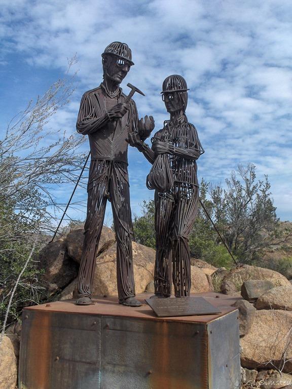 Metal Sculpture Bagdad Arizona