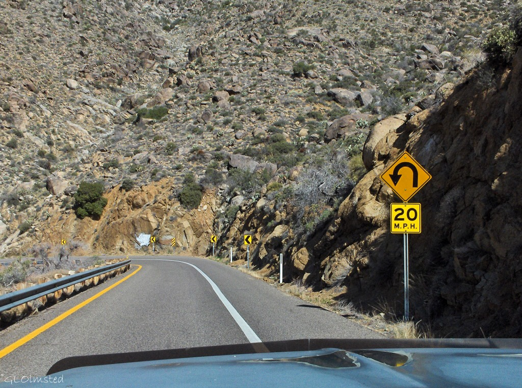White Elephant curve State Route 89 down Yarnell Hill Arizona