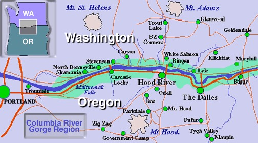 19 Gorge map from usda