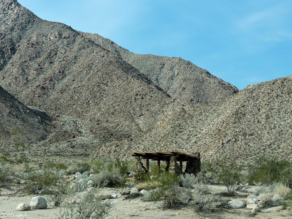 CCC built shelter Borrego Palm Canyon campground Anza-Borrego Desert State Park California
