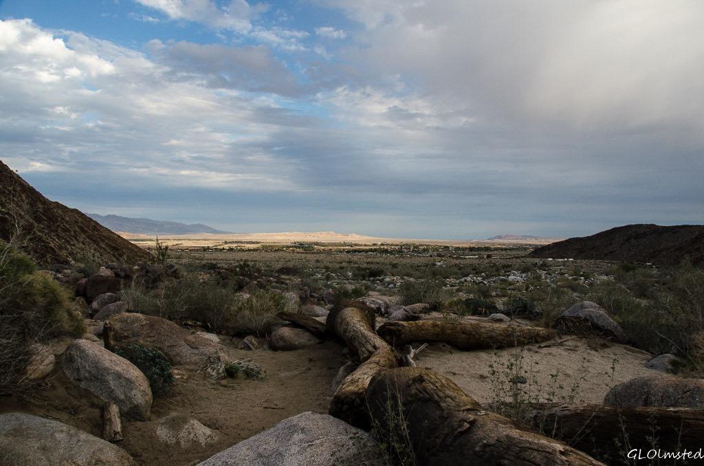 Borrego Springs valley from Palm Canyon trail Anza-Borrego Desert State Park California