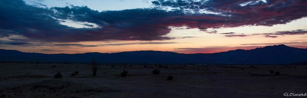 Sunset Anza-Borrego Desert State Park California