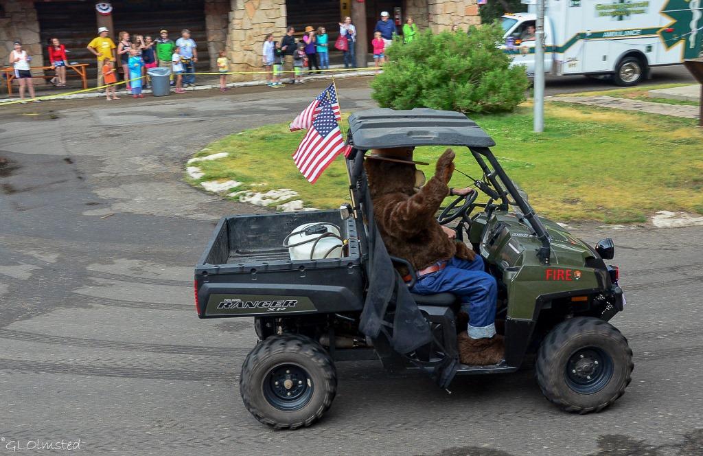 Smokey Bear 4th of July parade North Rim Grand Canyon National Park Arizona