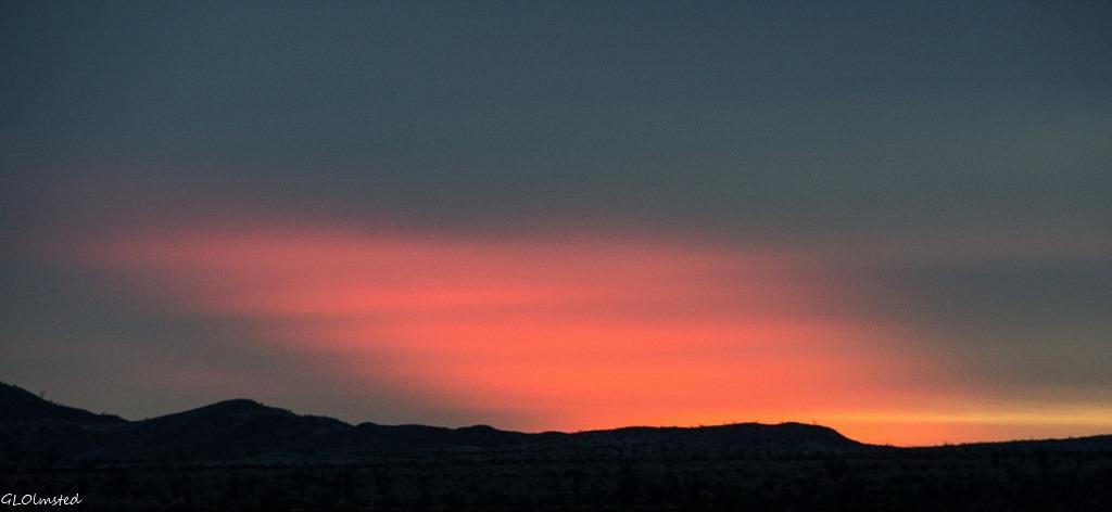 Sunrise Anza-Borrego Desert State Park California