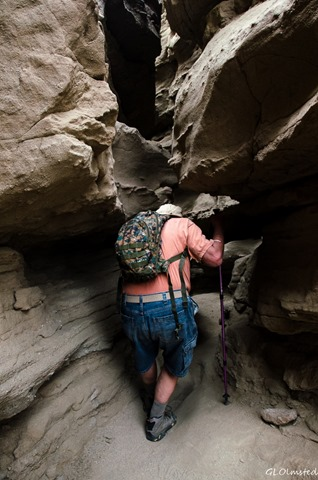 John in slot canyon Anza-Borrego Desert State Park California