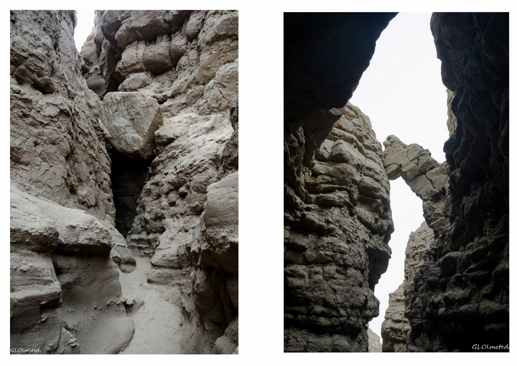 Boulders wedged in slot canyon Anza-Borrego Desert State Park California
