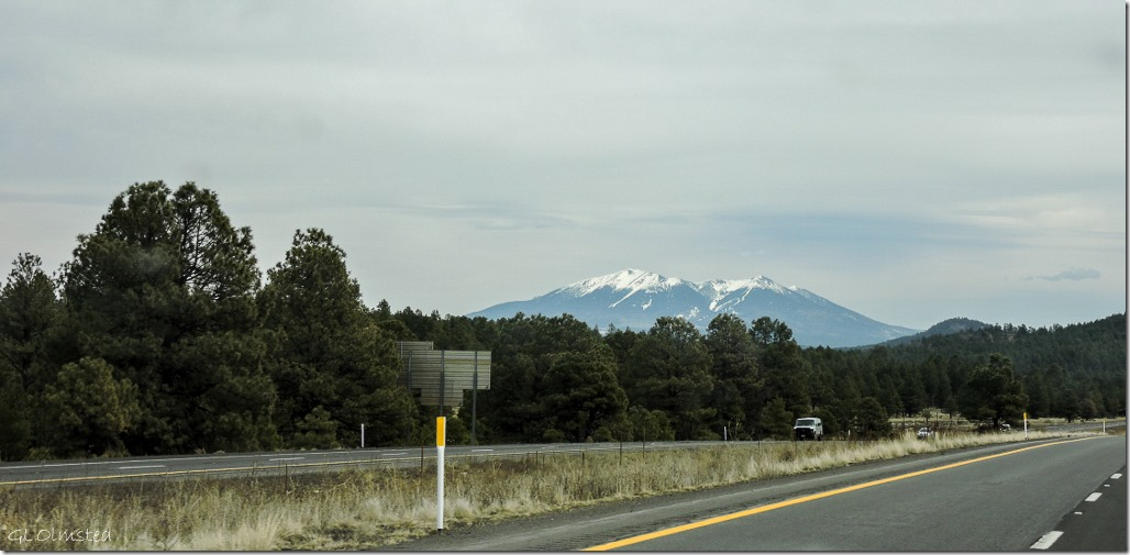 Mt Humphreys from I40 East Arizona