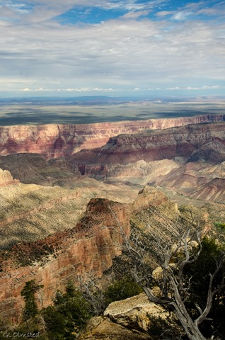 Grand Canyon & beyond from Point Imperial North Rim Grand Canyon National Park Arizona