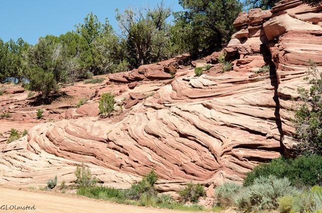 Sandstone cliffs by Best Friends Kanab Utah