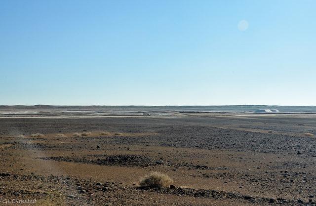 Salt pans near Upington South Africa