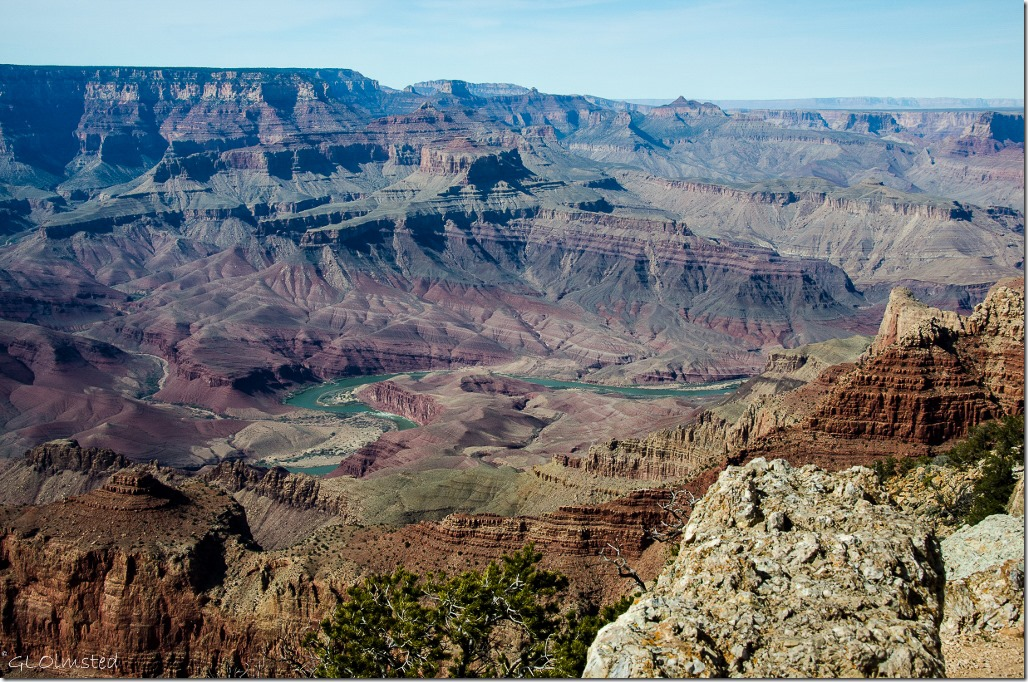 Unkar delta Colorado River South Rim Grand Canyon National Park Arizona