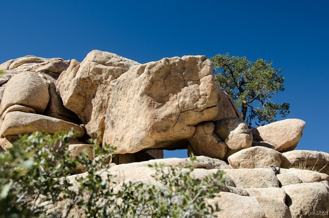 Balanced boulders Hidden Valley Joshua Tree National Park California