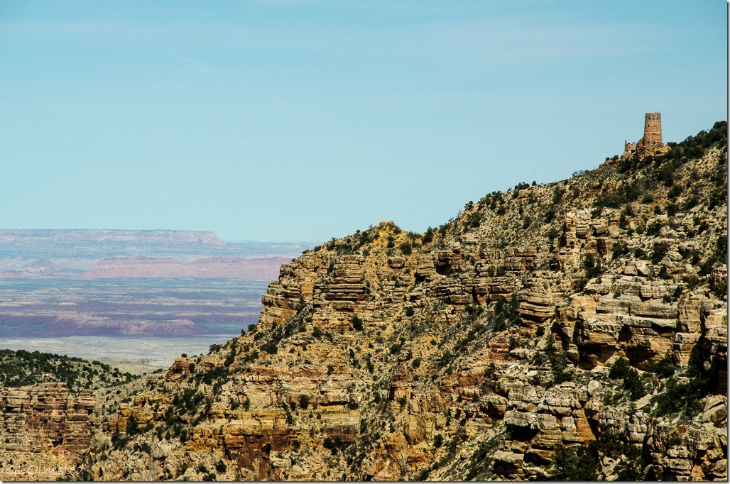 Desert View Watchtower from Lipan Point South Rim Grand Canyon National Park Arizona