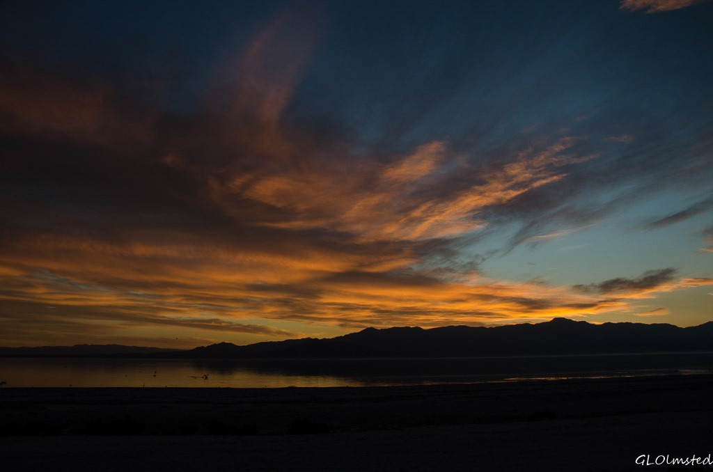 Sunset Corvina Beach Salton Sea SRA California