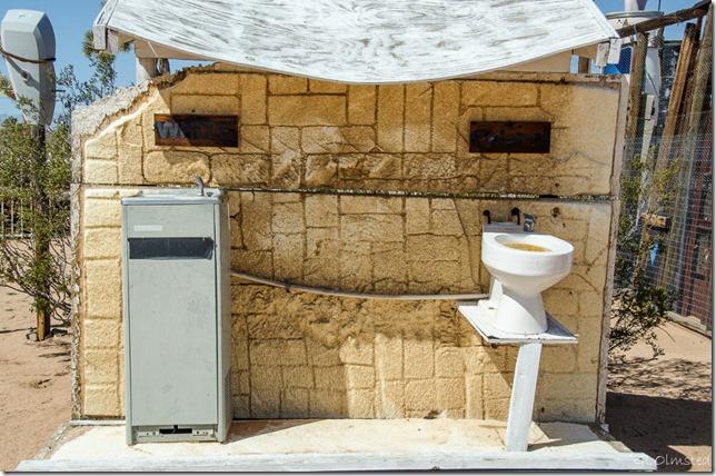 White-Colored Noah Purifoy's Desert Art Museum Joshua Tree California