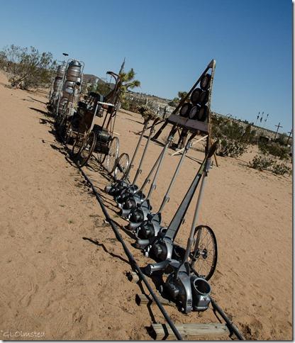 Kirby Express Noah Purifoy's Outdoor Desert Art Museum of assemblage sculpture Joshua Tree California