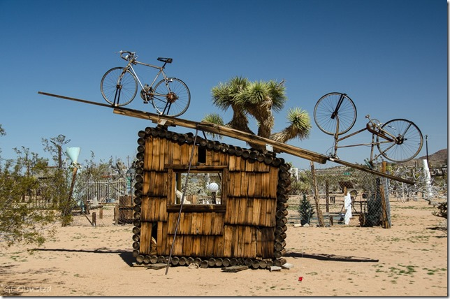 Noah Purifoy's Outdoor Desert Art Museum of assemblage sculpture Joshua Tree California