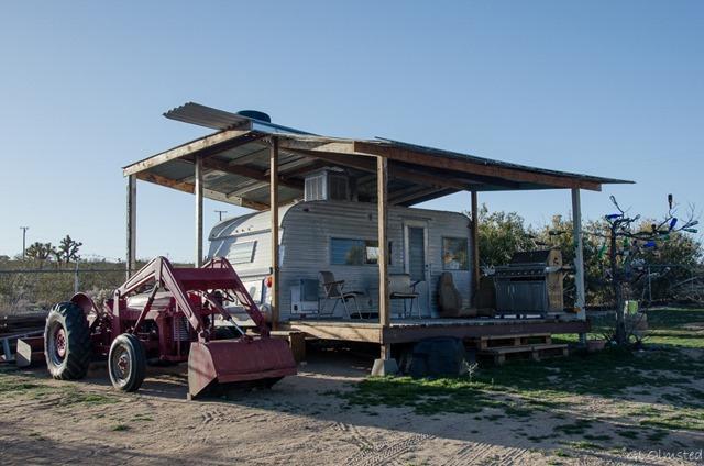 Shasta trailer Buzzards Roost Joshua Tree California