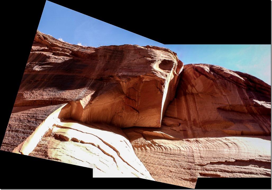 Sandstone cliff face at jct Buckskin Gulch & Wire Pass trail Grand Staircase Escalante National Monument Utah