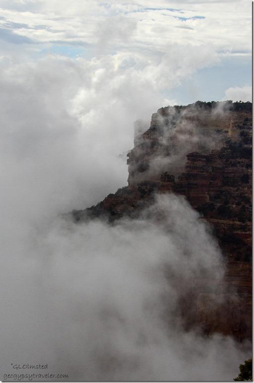 Clouds in canyon Cape Royal North Rim Grand Canyon National Park Arizona