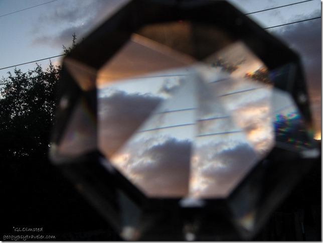 Sunset thru crystal Yarnell Arizona