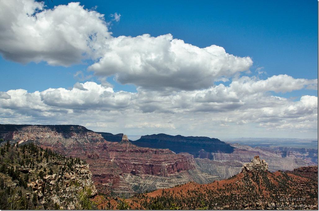 View from Vista Encantada North Rim Grand Canyon National Park Arizona