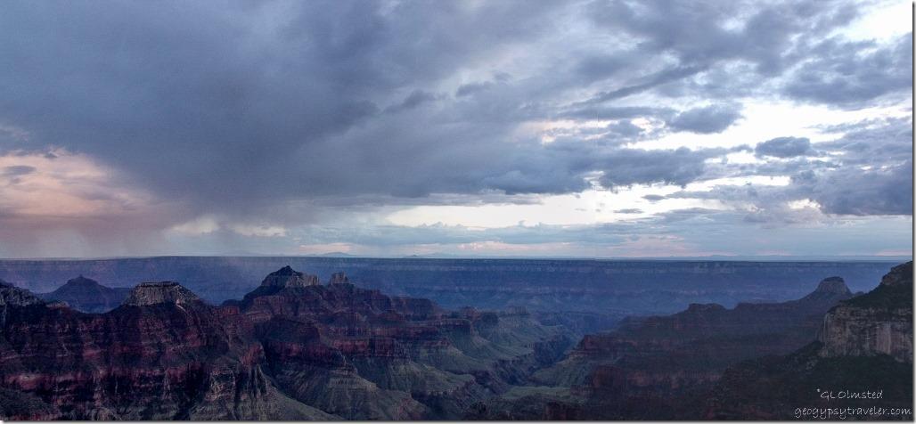 Sunset over canyon North Rim Grand Canyon National Park Arizona