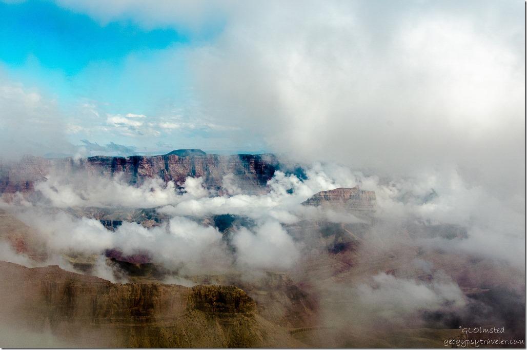 Inversion from Vista Encantada North Rim Grand Canyon National Park Arizona