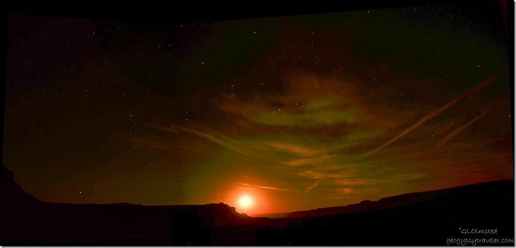 Moonrise Toroweap Grand Canyon National Park Arizona