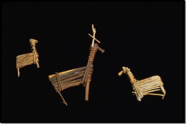 archaeology prehistory prehistoric artifact split twig figurine