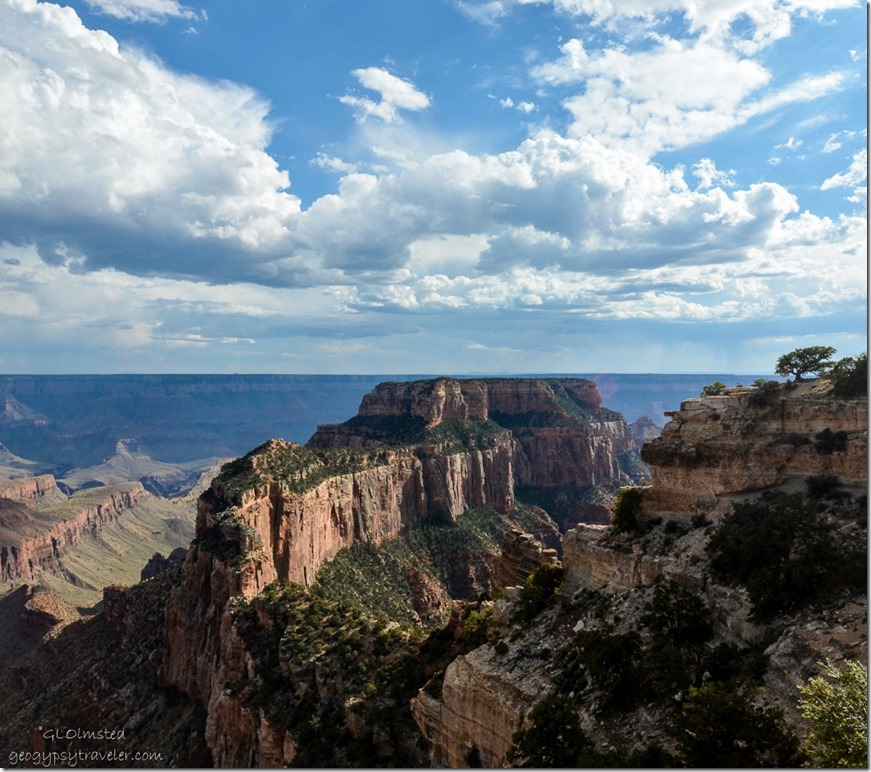 Wotans Throne from Cape Royal Walhalla Plateau North Rim Grand Canyon National Park Arizona