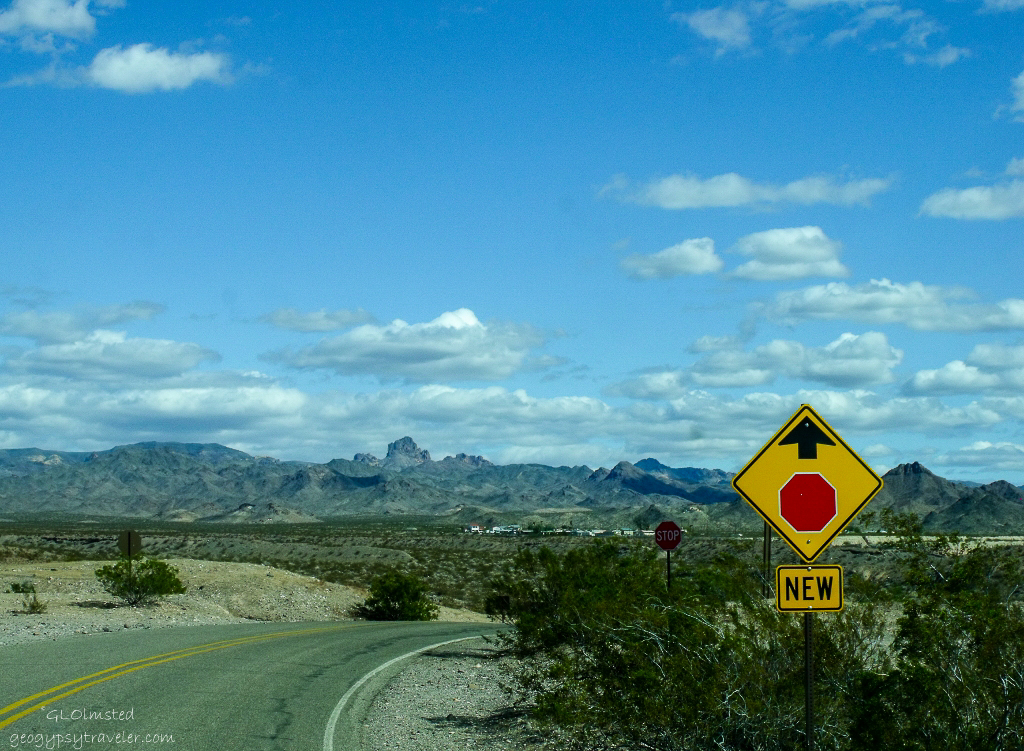 View east from Colorado River frontage road north of Bullhead City Arizona