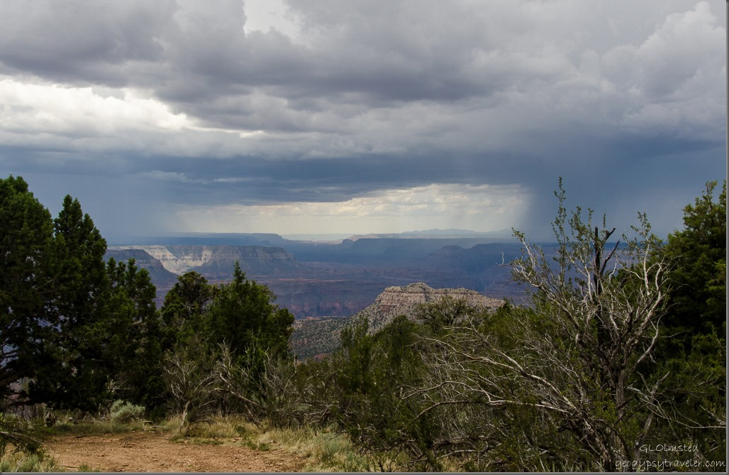 Storm over plateaus Crazy Jug Point Kaibab National Forest Arizona