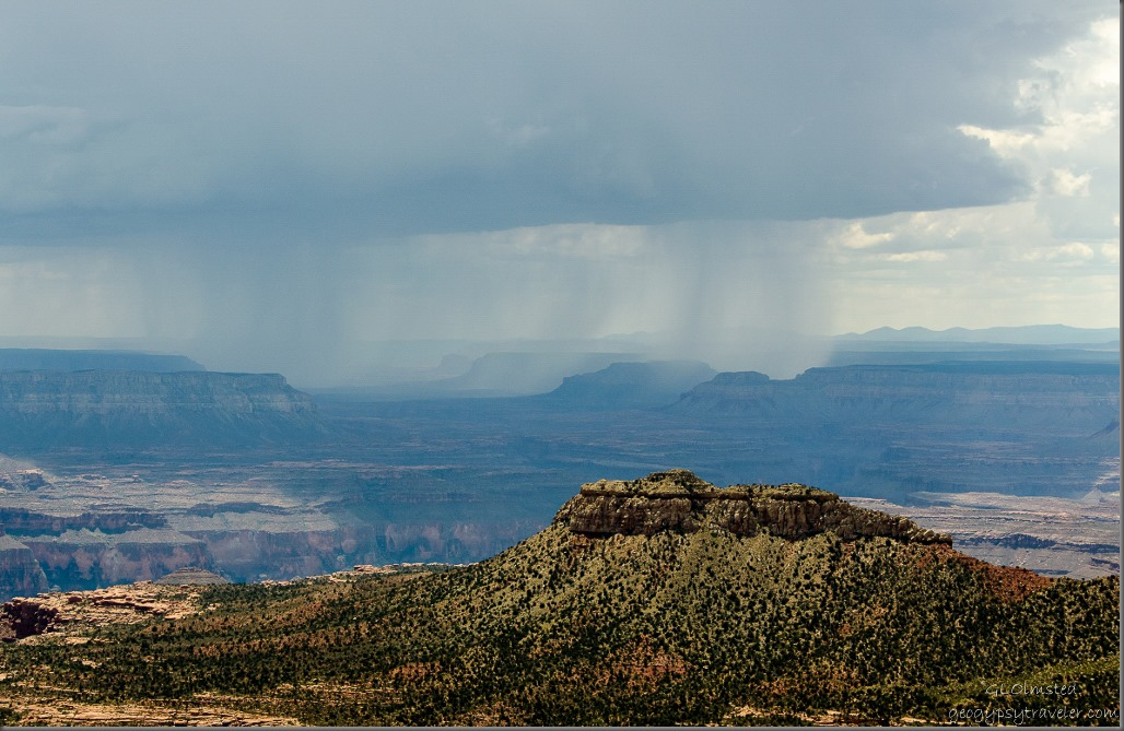 Storm over plateaus W Crazy Jug Point Kaibab National Forest Arizona