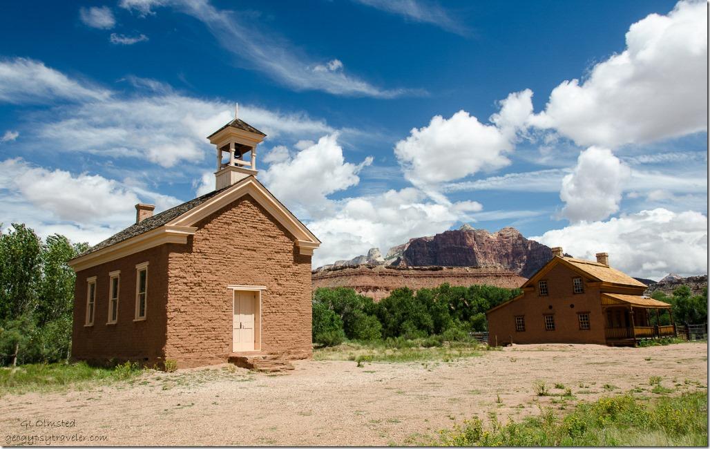 Schoolhouse-church & A H Russell home historic Grafton Utah