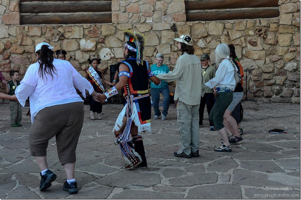 Group circle dance Heritage Days North Rim Grand Canyon National Park Arizona