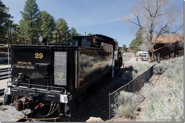 Old locomotive South Rim Grand Canyon National Park Arizona
