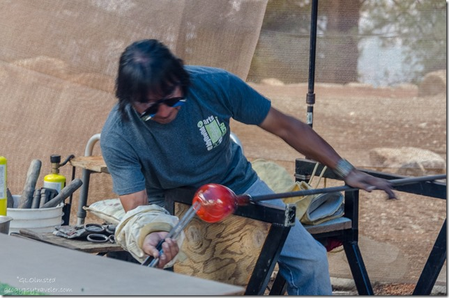 Ramson blowing glass Heritage Days North Rim Grand Canyon National Park Arizona