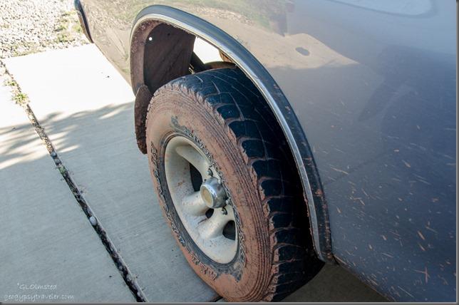 Muddy tires
