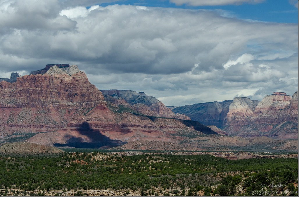 Zion NP from Smithsonian Butte Back Country Byway Utah