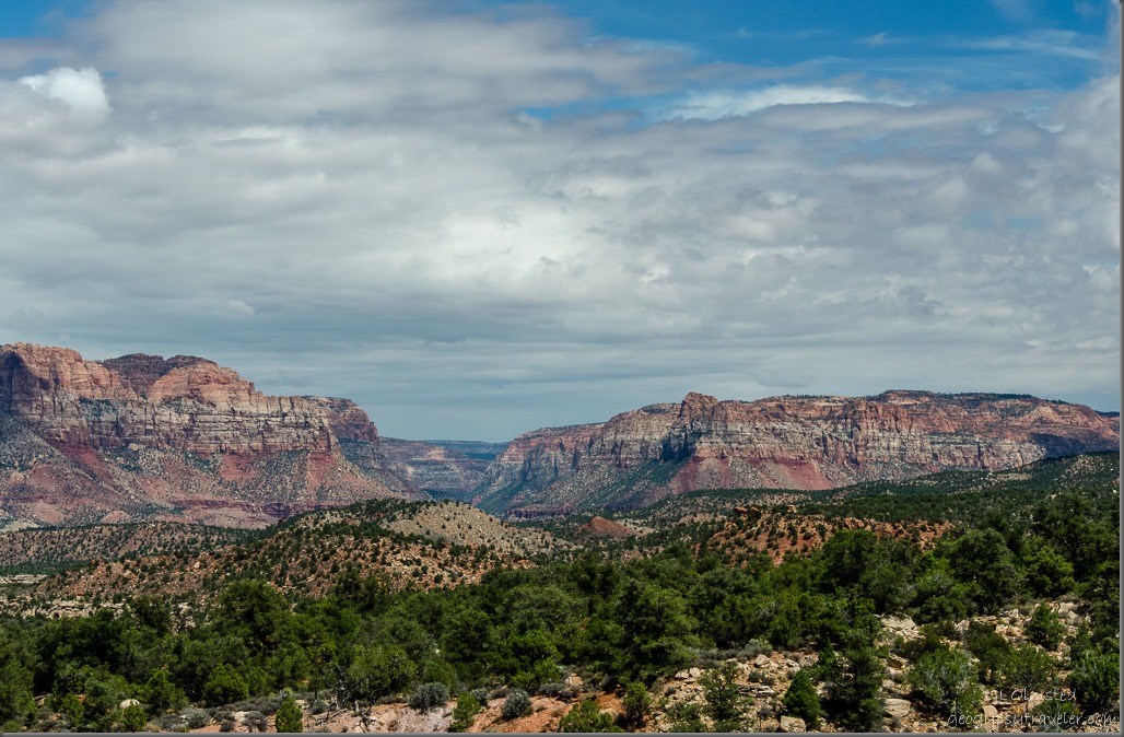 Zion National Park, Parunuweap Canyon & Canaan Mountain from Smithsonian Butte Back Country Byway Utah