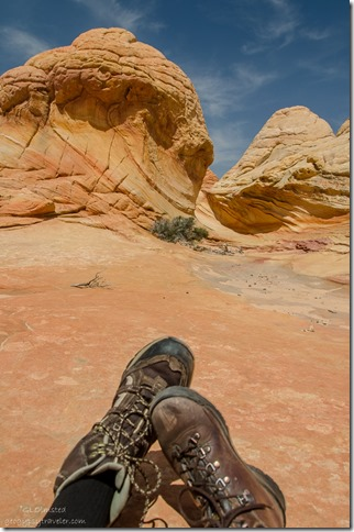 Bill & Gaelyn's feet Paria Canyon-Vermilion Cliffs Wilderness Arizona