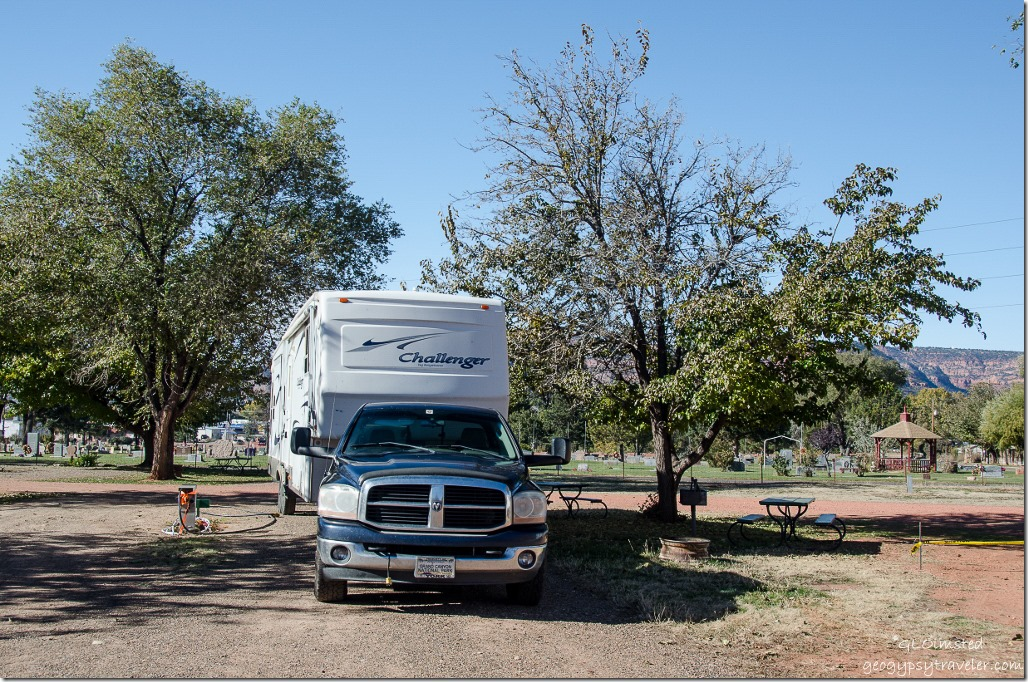 Truck & 5th-wheel Crazy Horse RV Park #70 Kanab Utah