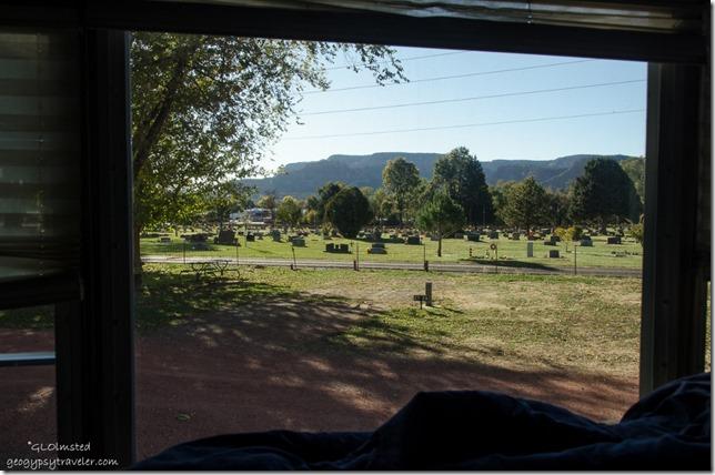 View from RV Crazy Horse RV Park Kanab Utah