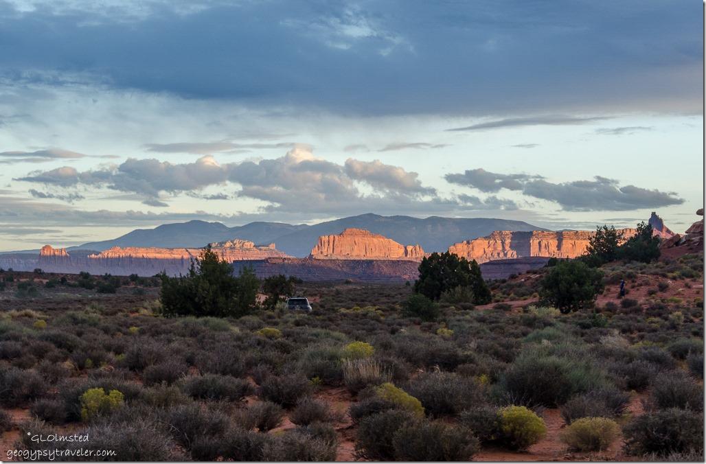 Late light & camp Hamburger Rock BLM Utah